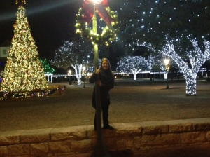We spent our one year wedding anniversary in the Hill Country.  Fredericksburg is magical at Christmastime.  :)