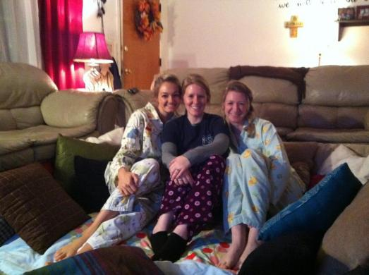 Roommate pajama night
