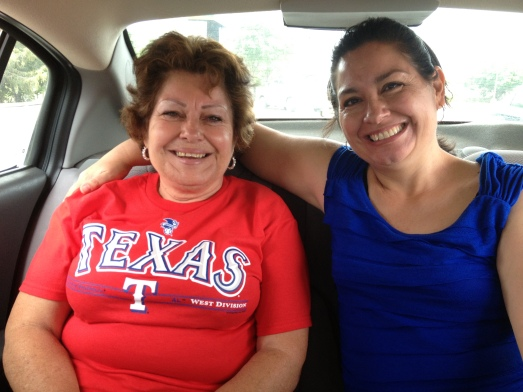 Abuela wanted to arrive at the airport in Costa Rica wearing a Texas shirt.  She's a fan.