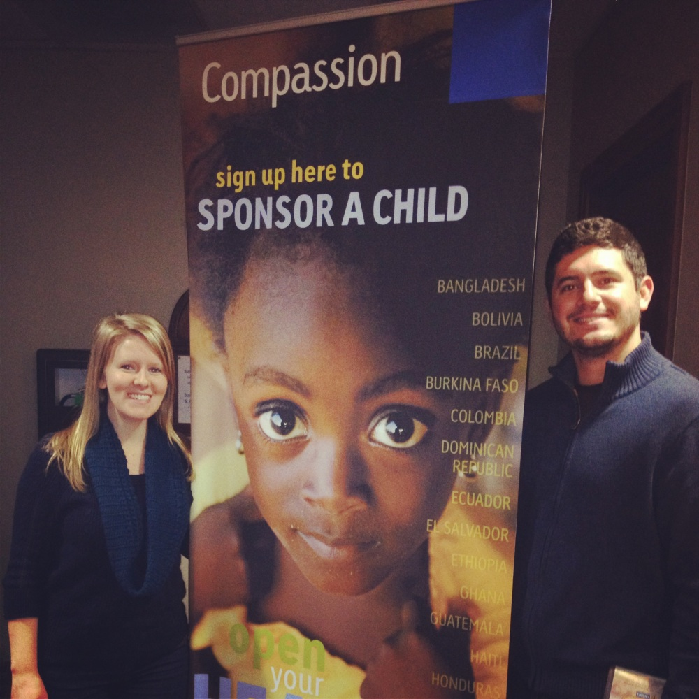 Volunteering with Compassion International!  We did this twice this year.
