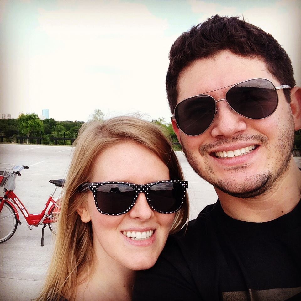 This was my first bike ride in many moons.  (…if you don't count the time a big group surprised our friend Derek and rode through downtown Abilene together, and I fell down and ripped my jeans.)  This time I didn't fall once.