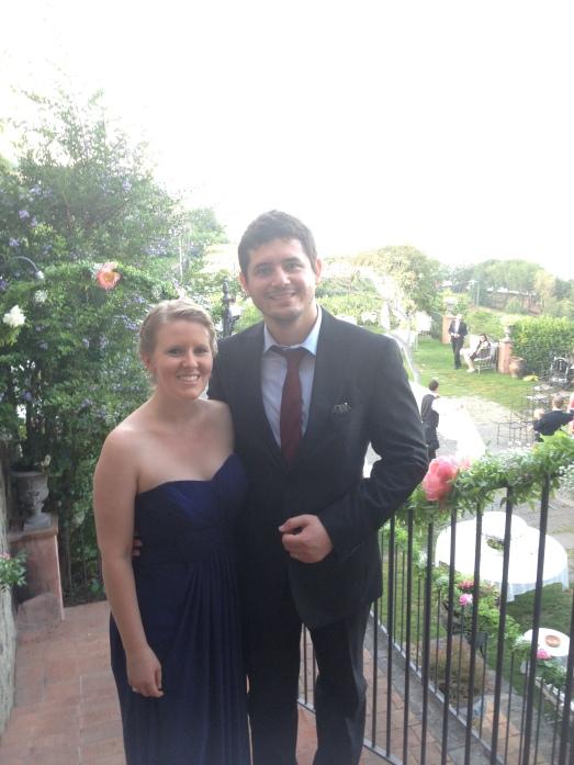 My handsome wedding date