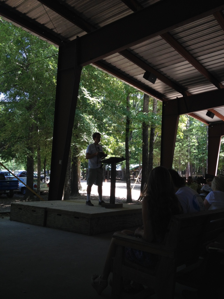 I got to hear my brother preach at Camp Deer Run in July.  Such a proud big sister moment.  :)