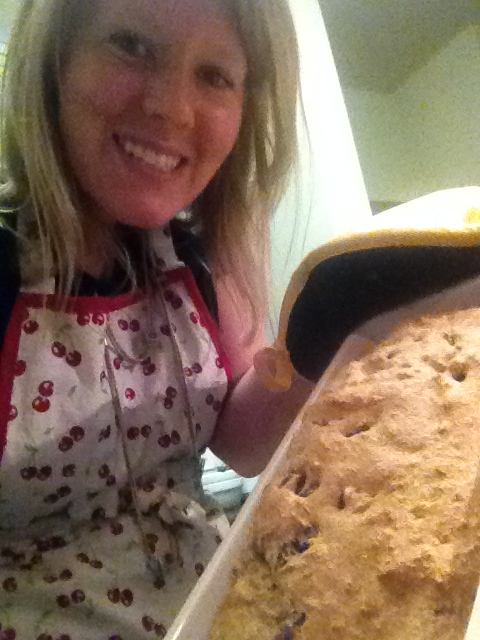In 2014, my cooking experiments have continued.  This is Irish Soda Bread with raisins.  Yummmm.