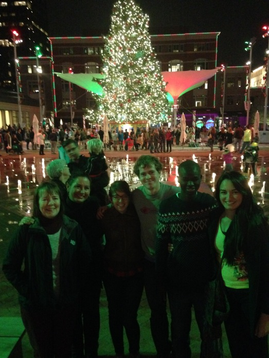 Enjoying beautiful Sundance Square